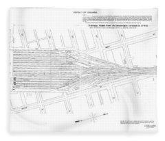 Valuation Map Washington Union Station Fleece Blanket