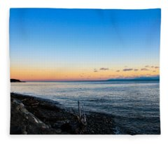 Vancouver Island Sunset Fleece Blanket