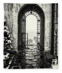 Vanderbilt Doorway In Centerport Fleece Blanket