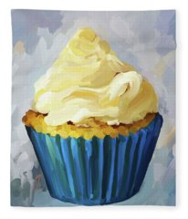Vanilla Cupcake Fleece Blanket