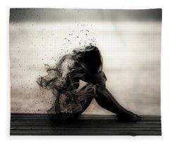 Vapours Of Sadness Fleece Blanket