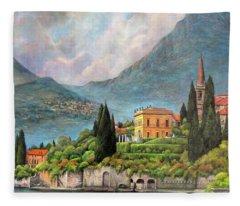 Varenna Italy Fleece Blanket