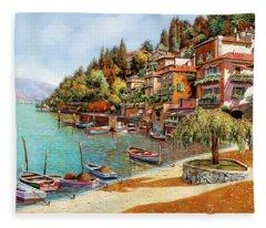 Varenna On Lake Como Fleece Blanket