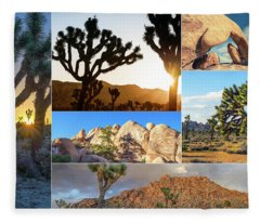 Variety Of Joshua Tree Collage Fleece Blanket