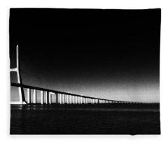 Vasco Da Gama Bridge Lisbon 2 Fleece Blanket