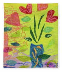 Vase Full Of Love Fleece Blanket