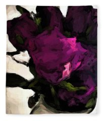 Vase Of Roses With Shadows 1 Fleece Blanket