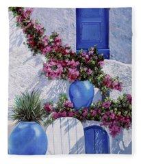 Greece Fleece Blankets
