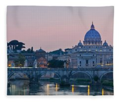 Vatican City At Sunset Fleece Blanket