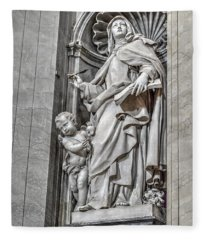 Vatican Statue Fleece Blanket