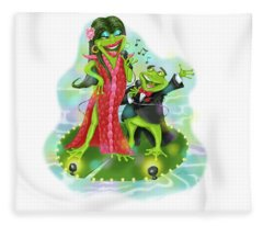 Vegas Frogs Lounge Act Fleece Blanket