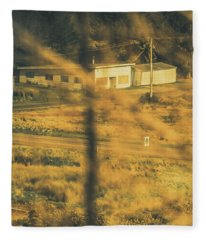 Vegitation View Of Rural Farm Homestead  Fleece Blanket