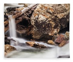 Velvet Falls - Rocky Mountain Stream Fleece Blanket