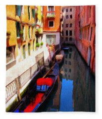 Venetian Canal Fleece Blanket