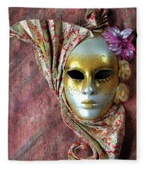 Venetian Style Mask Fleece Blanket