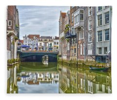 Venetian Vibe In Dordrecht Fleece Blanket