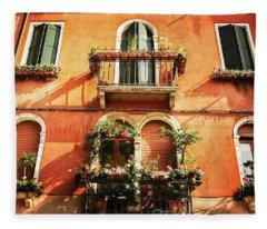 Venetian Windows Fleece Blanket