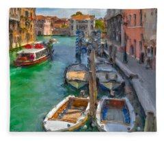 Venezia. Cannaregio Fleece Blanket