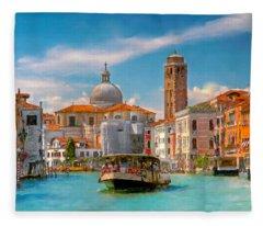 Venezia. Fermata San Marcuola Fleece Blanket