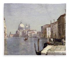 Venice - View Of Campo Della Carita Looking Towards The Dome Of The Salute Fleece Blanket