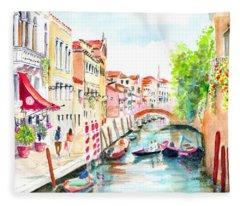 Venice Canal Boscolo Venezia Fleece Blanket