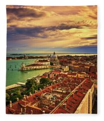 From The Bell Tower In Venice, Italy Fleece Blanket