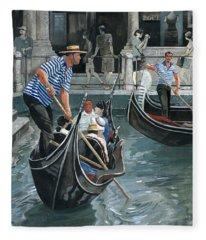 Venice. Il Bacino Orseolo Fleece Blanket