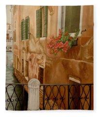 Venice In June Fleece Blanket