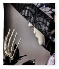 Venice Mask 18 2017 Fleece Blanket