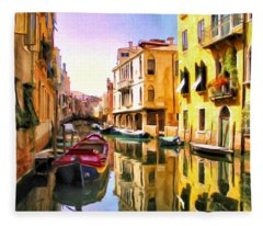 Venice Morning Fleece Blanket