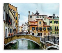 Venice Neighborhood Fleece Blanket