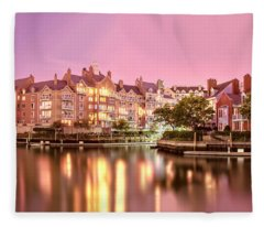 Venice Of Jersey City Fleece Blanket