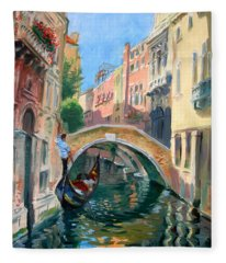 Venice Ponte Widmann Fleece Blanket