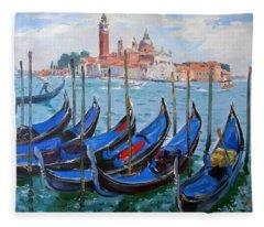 Venice View Of San Giorgio Maggiore Fleece Blanket