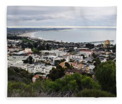 Ventura Coast Skyline Fleece Blanket