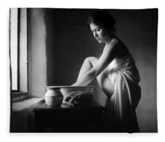 Vermeer Footwasher Fleece Blanket