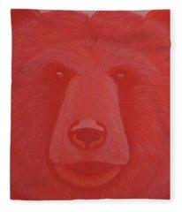 Vermillion Bear Fleece Blanket