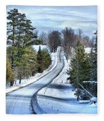 Vermont Country Landscape Fleece Blanket
