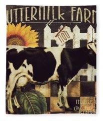 Vermont Farms Cow Fleece Blanket