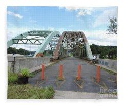 Vermont, New Hampshire Bridge Fleece Blanket