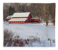 Vermont Red Fleece Blanket