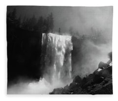 Vernal Fall And Mist Trail Fleece Blanket