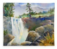 Vernal Falls Fleece Blanket