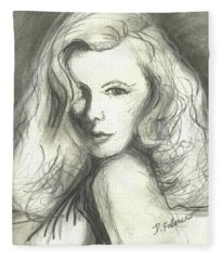 Veronica Lake Fleece Blanket