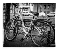 Versailles Bicycle Fleece Blanket