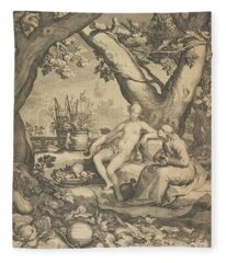 Vertumnus And Pomona, 1605  Fleece Blanket