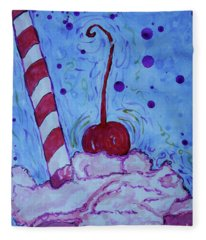 Very Cherry Soda Fleece Blanket