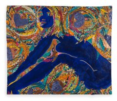 Vesica  Pisces Fleece Blanket