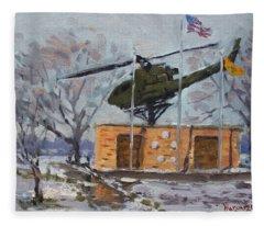 Veterans Memorial Park In Tonawanda Fleece Blanket