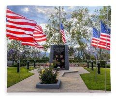 Veterans Monument Camarillo California Usa Fleece Blanket